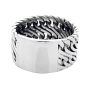 Sterling Silver 925 12mm ID  Men's Ring