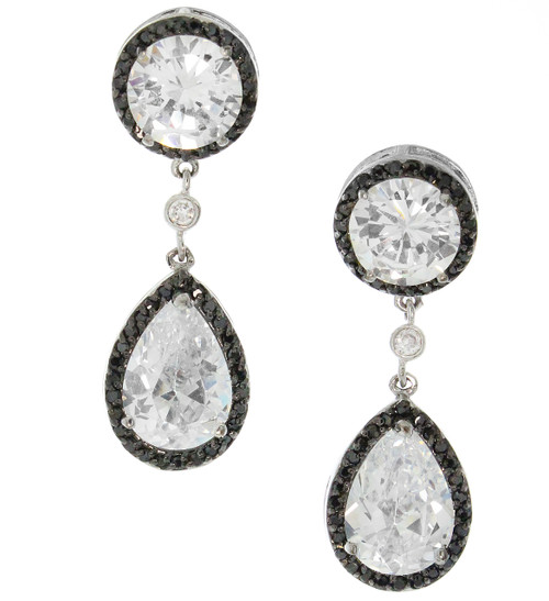Artune Online Jewelry Sterling Silver Pearl Round and Pear Drop Earrings