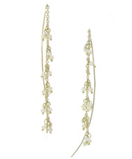 Gold Plated Pearl Drop Earrings