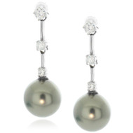 GRAY PEARL DROP Earrings