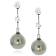 GRAY PEARL DROP Earrings