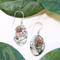 Sterling Silver Oval Abalone Drop Bali Earrings