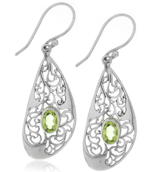 Sterling Silver .925 Filigree Bali Earrings