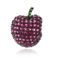 Apple Cubic Zirconia Apple Necklace Pendant