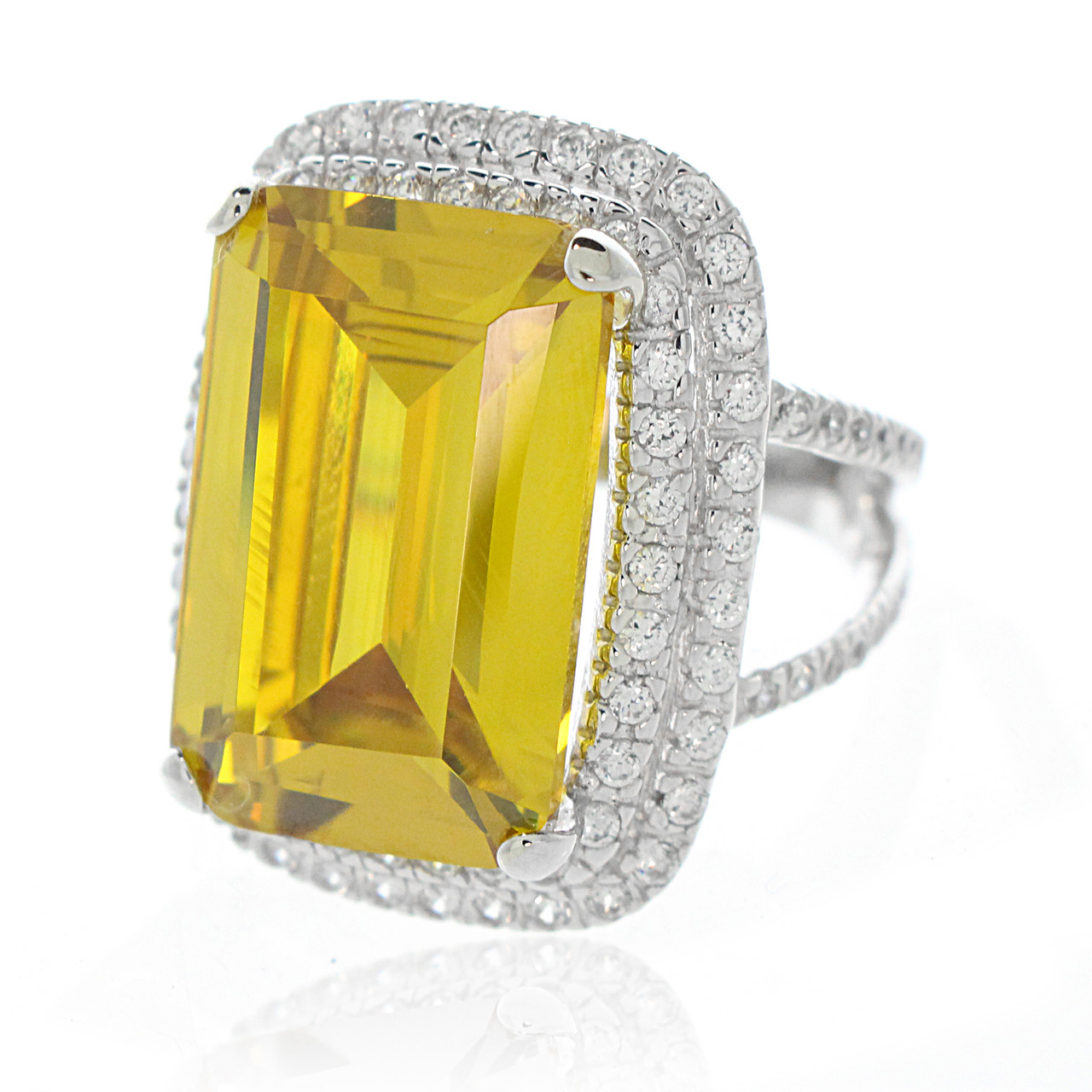 2f5e27f3d8 Statement Canary Yellow CZ Ring - Artune Jewelry Online
