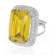 Statement  Canary Yellow CZ Ring