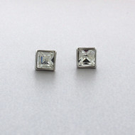 Swarovski Crystal Stud Earrings in Brass