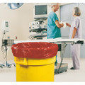 """Medical / Isolation Bags - Puncture and Tear Resistant - Linear Low Density - Infectious Waste Collection, Extra Heavy-Duty, 33"""" x 40"""", Red, NSN 8105-01-517-3660"""