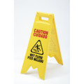 Wet Floor Sign, NSN 9905-01-588-2362