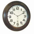 "Hardwood Atomic Clock - 16"" Diameter, Walnut, NSN 6645-01-492-0377"