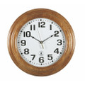 "Hardwood Atomic Clock - 16"" Diameter, Light Oak, NSN 6645-01-492-0900"