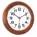 "Hardwood Atomic Clock - 12"" Diameter, Honey Oak, NSN 6645-01-499-0893"