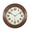 "Hardwood Atomic Clock - 16"" Diameter, Mahogany, NSN 6645-01-492-0373"