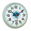 "Slimline Workstation Clock - 7.35"" Diameter, with Logo, Taupe, NSN 6645-01-456-6035"