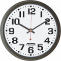 "Grand Series Wall Clock - 24"" Diameter, Black, NSN 6645-01-467-8481"