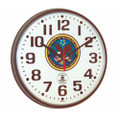 "Atomic Slimline Wall Clock - 12 3/4"" Diameter, Black, with Logo, NSN 6645-01-491-9815"