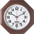 """Hardwood Wall Clock - Octagon - 12"""" Diameter, Mahogany, NSN 6645-01-491-9825"""