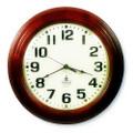 """Hardwood Wall Clock - 16"""" Diameter, Mahogany, NSN 6645-01-421-6904"""