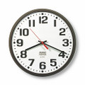 "Electric Slimline Wall Clock - 12 3/4"" Diameter, Brown, NSN 6645-00-530-3342"