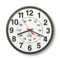 "12/24 Hour Slimline Wall Clock - 8""  Diameter, Bronze, NSN 6645-01-467-8478"