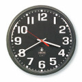 "Slimline Workstation Clock - 7.35"" Diameter, White Numbers, Stone Gray Case, NSN 6645-01-421-6899"