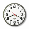 "Slimline Wall Clock - 12 3/4"" Diameter, Stone Gray, NSN 6645-01-421-6901"