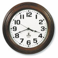"Hardwood Wall Clock - 16"" Diameter, Walnut, NSN 6645-01-421-6906"