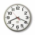 "Slimline Wall Clock - 12 3/4"" Diameter, Taupe, NSN 6645-01-421-6898"