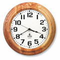 "Hardwood Wall Clock - 16"" Diameter, Light Oak, NSN 6645-01-467-8475"