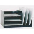 """Combination Desk File, 7 3/4"""" x 14"""" x 11"""", Black, NSN 7520-01-452-1564"""