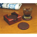 Wooden Coaster Set - 5 Piece, Rosewood, NSN 7510-00-NIB-0364