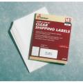 "Laser/Inkjet Labels - 2"" x 4 1/8"", 500 Labels per Pack, Clear, NSN 7530-01-514-4909"