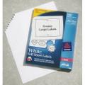 """SKILCRAFT/AveryåäÌ£å¢ White Laser Labels - 8 1/2"""" x 11"""", Full Sheet Label, NSN 7530-01-349-4463"""