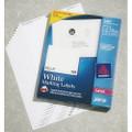 """SKILCRAFT/AveryåäÌ£å¢ White Laser Labels - 3 1/3"""" x 4"""" Label, 600 Labels per Box, NSN 7530-01-349-4464"""