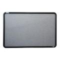 "QuartetÌ´å¬/SKILCRAFT Fabric Bulletin Board-Plastic Frame-36"" x 24"" Plastic Frame, NSN 7110-01-567-9523"
