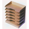 "Horizontal Desk File, 12"" x 8 1/2"" x 17 1/8"", 7 Shelf, Beige, NSN 7520-01-445-0733"