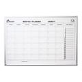 "QuartetÌ´å¬/SKILCRAFT Calendar Planner Boards-Aluminum Frame-36"" x 24"", 1 Month, NSN 7520-01-484-5263"