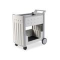 Molded Polypropylene Mail Cart, 125-Folder Cap, 21 x 38-1/2 x 42, Platinum