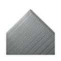 Ribbed Antifatigue Mat, Vinyl, 27 x 36, Gray