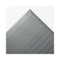 Ribbed Antifatigue Mat, Vinyl, 36 x 60, Gray