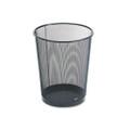 Wastebasket, Round, Wire Mesh, Black