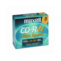 MAXELL DISC,CDRW,W/JEWEL,5PK,GD