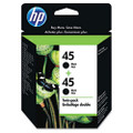 C6650FN (HP 45) Ink, 830 Page-Yield, 2/Pack, Black