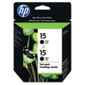 C6653FN (HP 15) Ink, 2/Pack, Black
