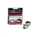 10N0595 Inkjet Cartridge, 1 Black Ctg/1 Tri-Color Ctg, Black, Tri-Color
