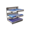 SHELF,3TIER,DSK,MESH,BK