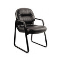 Leather 2090 Pillow-Soft Series Guest Arm Chair, Black