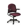 Alaris 4220 Series Mid Back Swivel/Tilt Task Chair, Burgundy Upholstery