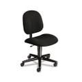 Every-Day Series Swivel-Back Pivot Task Chair, Olefin Fabric, Black