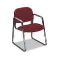 Solutions Seating Sled Base Guest Chair, Olefin, Burgundy